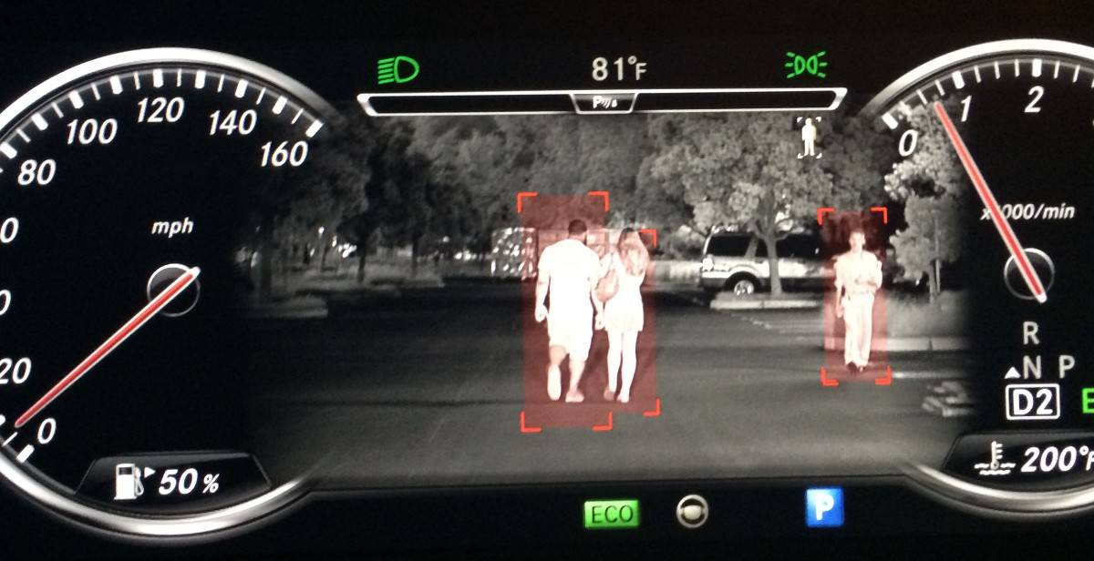 Mercedes Night View Assist PLUS with Pedestrian Detection