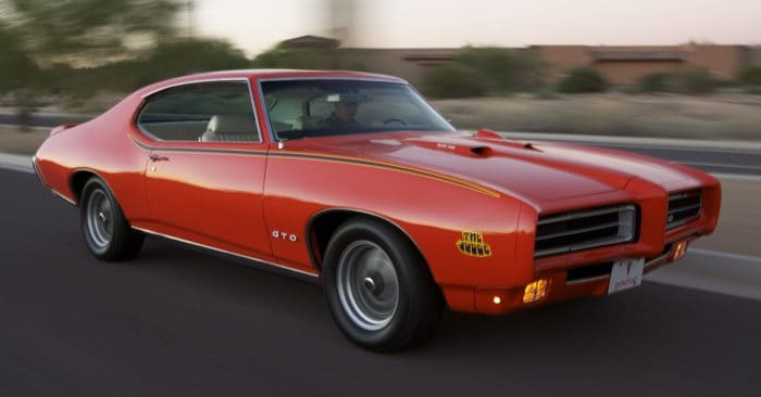 """1969 Pontiac GTO """"The Judge"""" Rolling Front 3/4"""