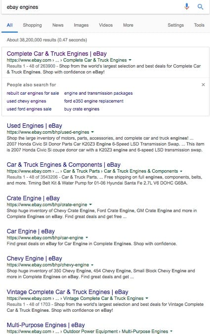 ebay google search results