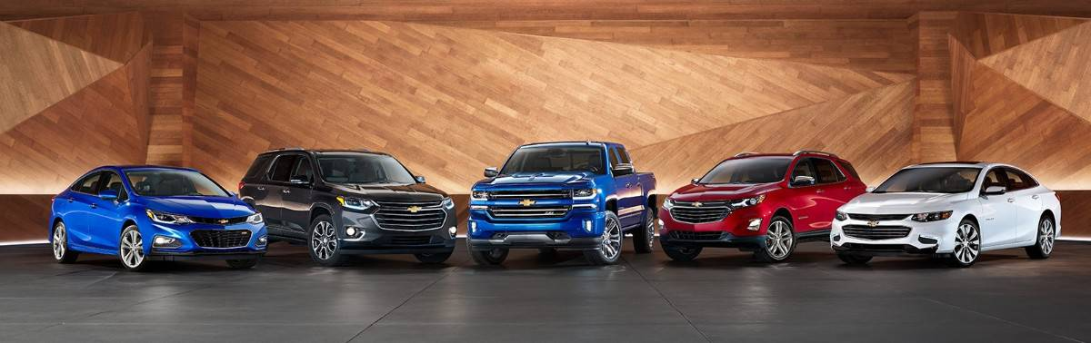 Chevrolet car and truck lineup