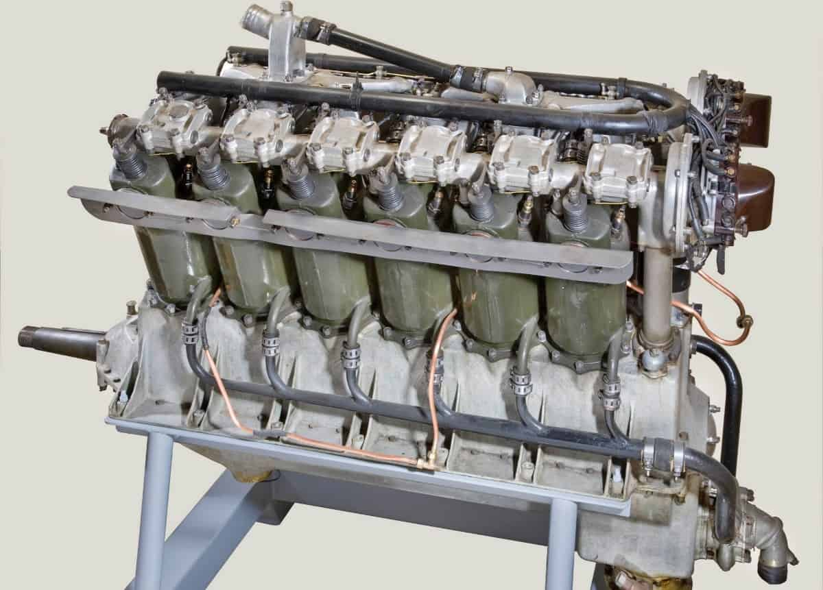 Lincoln Liberty V12 aircraft engines - right side view
