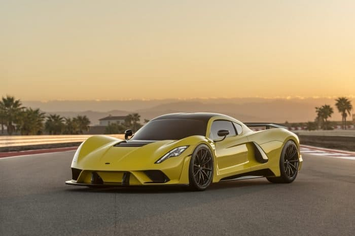 The Hennessey Venom F5 front 3/4