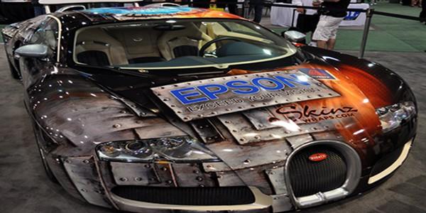 Epsom Wrapped Bugatti