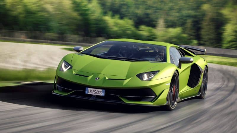 Lamborghini Aventador SVJ Coupe rocking the track