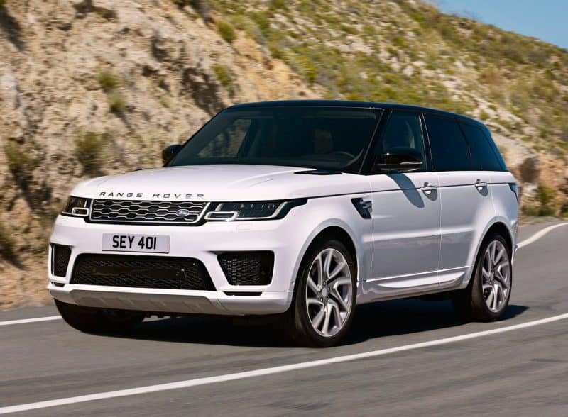 Land Rover Range Rover Sport front 3/4 view