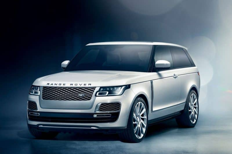 2019 Land Rover Range Rover SV Coupe exterior front 3/4 view