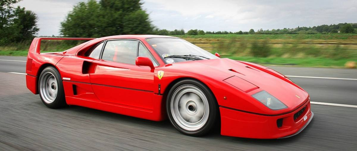 1988 Ferrari F40 - right side view