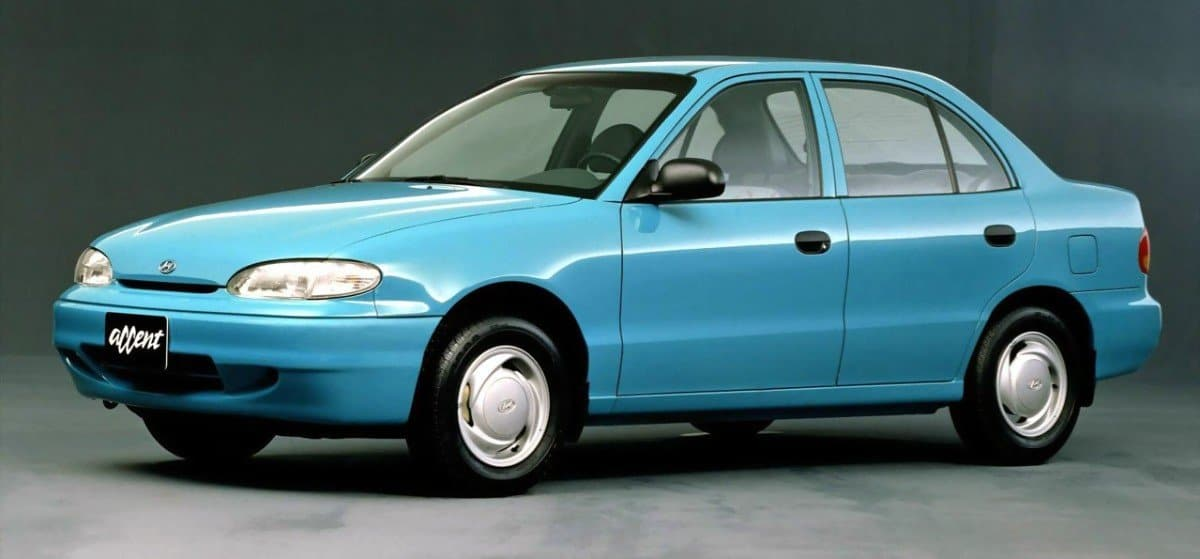 1994 Hyundai Accent - left side view