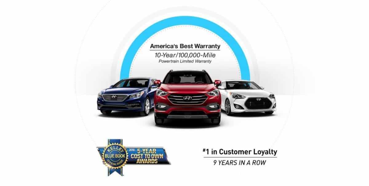 2018 Hyundai KBB award - Customer Loyalty 9 Years in a Row