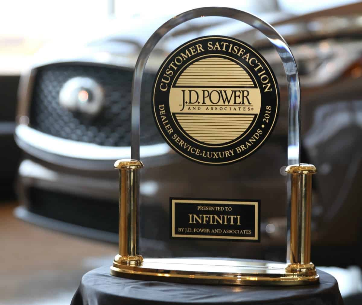 Infiniti J D Power customer satisfaction award