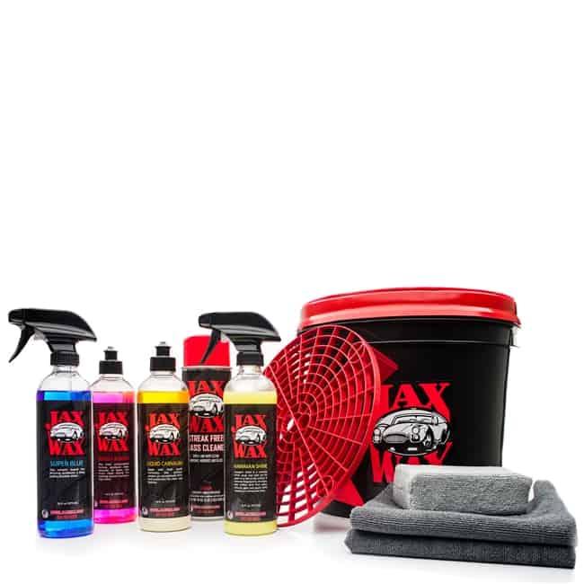 Jax Wax Professional Easy Wash and Wax Car Care Bucket Organizer Kit