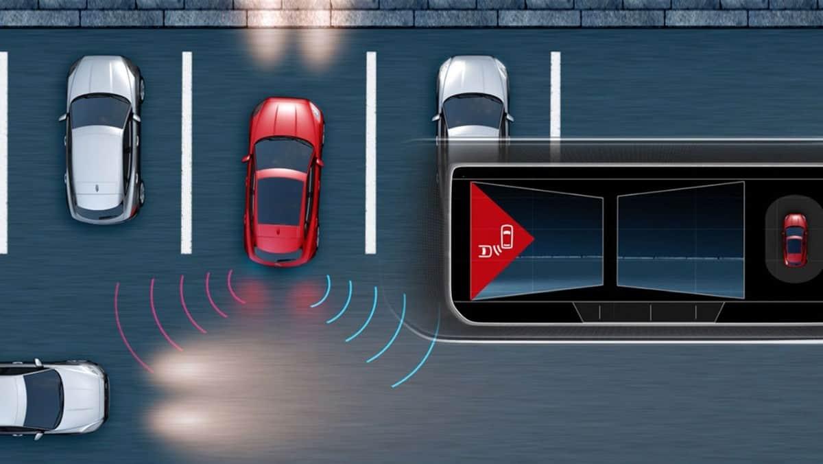 Jaguar Rear Traffic Monitor - safety equipment