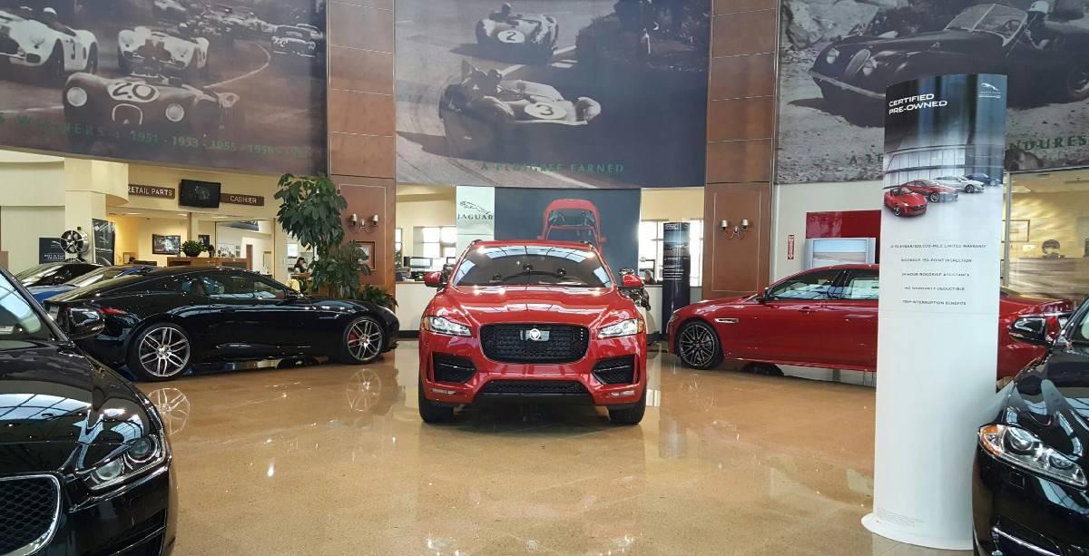 Jaguar dealerships - inside view