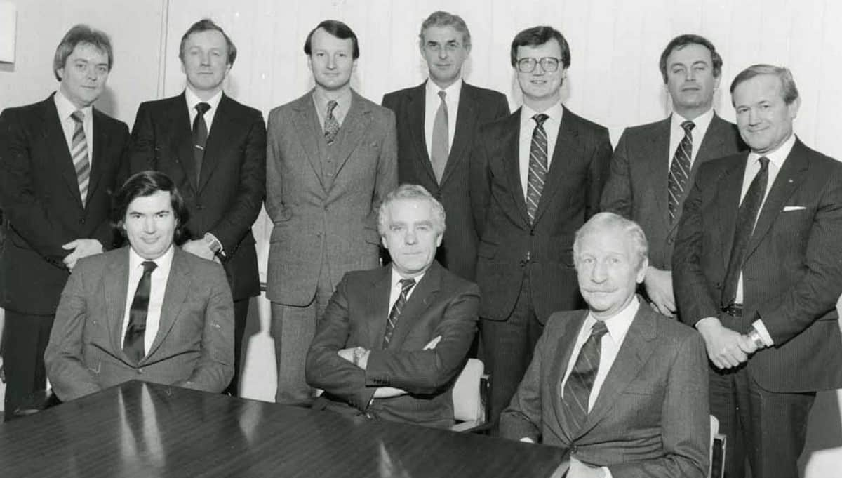 Sir John Egan with board