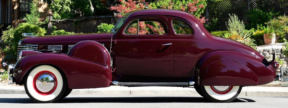 1938 Cadillac Opera Coupe - left side view