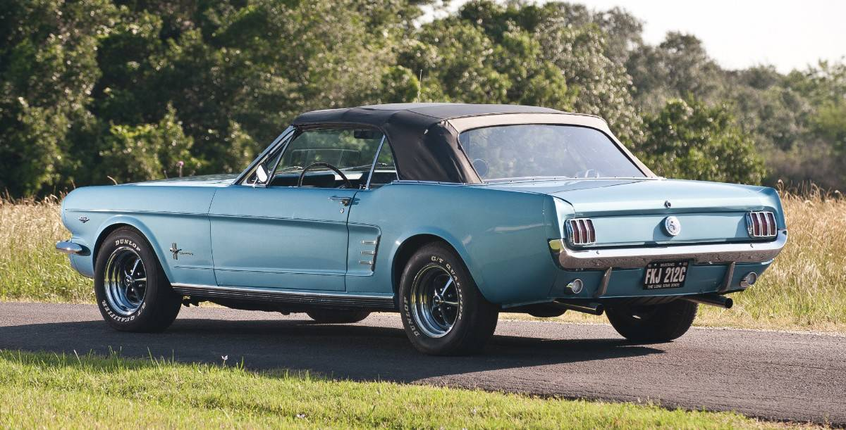 1966 Ford Mustang Convertible - left rear view