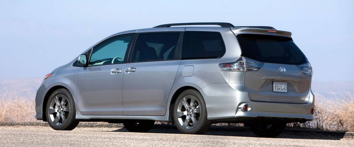 2012 Toyota Sienna - left rear view