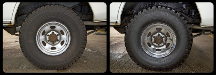 before and after tire