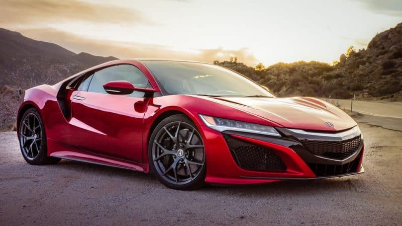 Acura NSX front 3/4 view