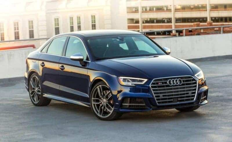 2018 Audi S3 front 3/4 view