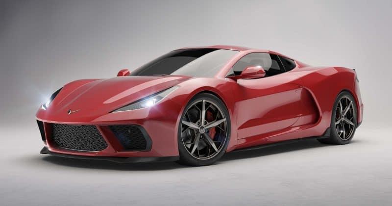 2020 mid-engined Chevrolet Corvette rendering