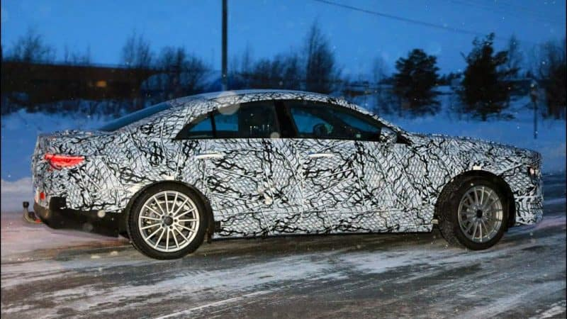 2020 Mercedes-Benz CLA Class test mule side view