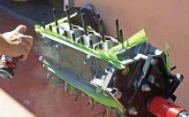 painting engine block