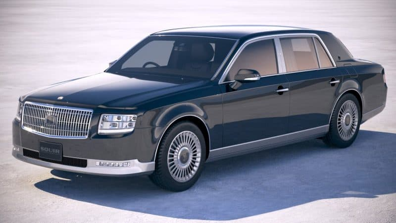2018 Toyota Century front 3/4 view