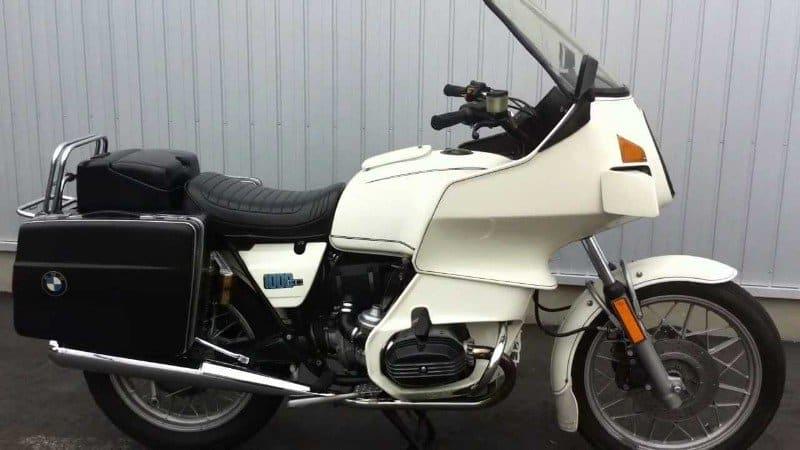 1982 BMW R100 police bike
