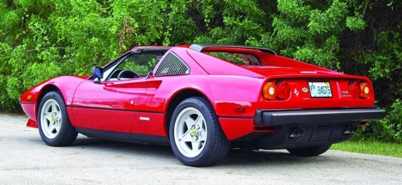1984 Ferrari 308 GTS - left rear view