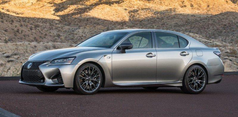 2016 Lexus GS F - left side view