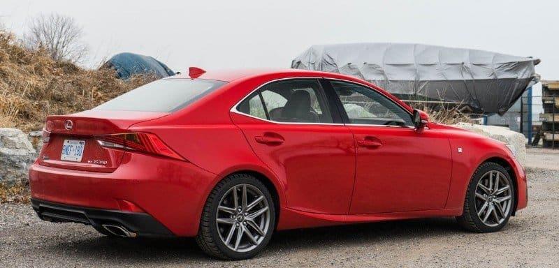 2017 Lexus IS 350 F Sport - right rear view