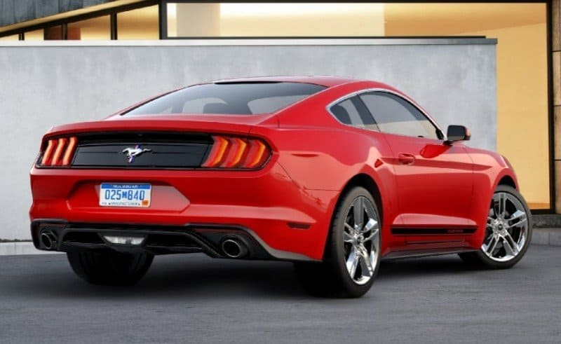 2018 Ford Mustang Ecoboost - right rear view