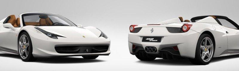 Ferrari 458 Italia - front and rear view