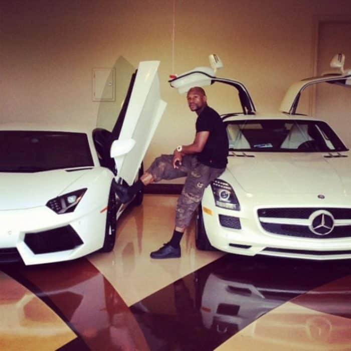 Floyd Mayweather In His Garage