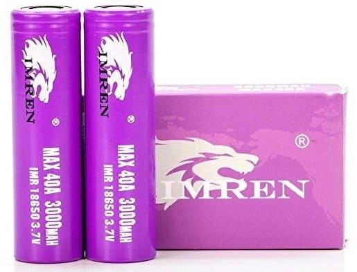 Imren IMR 18650 Flat Top High Drain Batteries