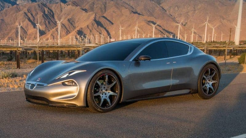 2020 Fisker EMotion front 3/4 view