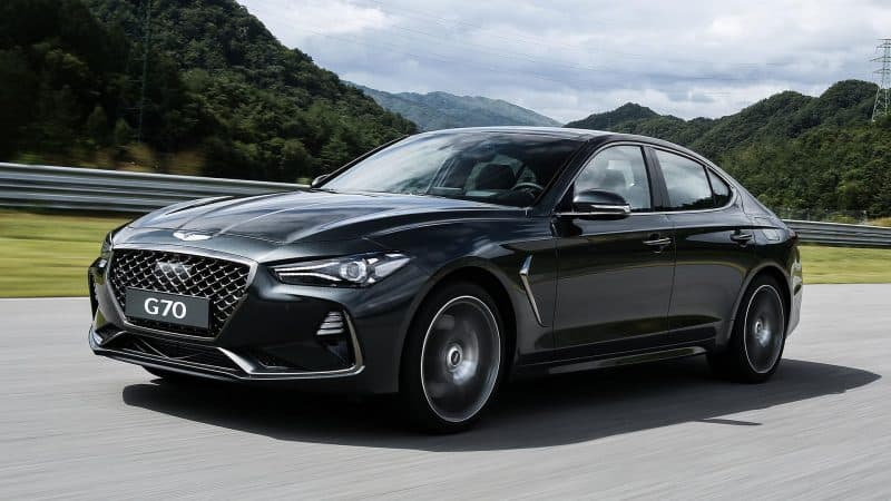 Genesis G70 coupe should resemble the G70 sedan pictured here