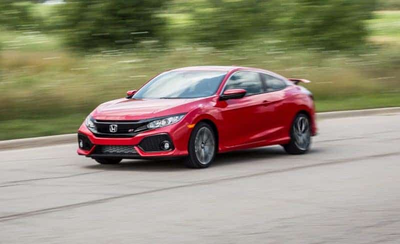 Honda Civic Si coupe front 3/4 view