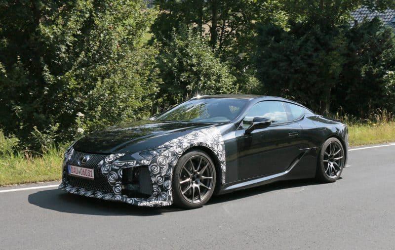 2020 Lexus LC F test mule