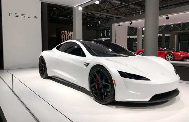 2020 Tesla Roadster mockup presented in Basel