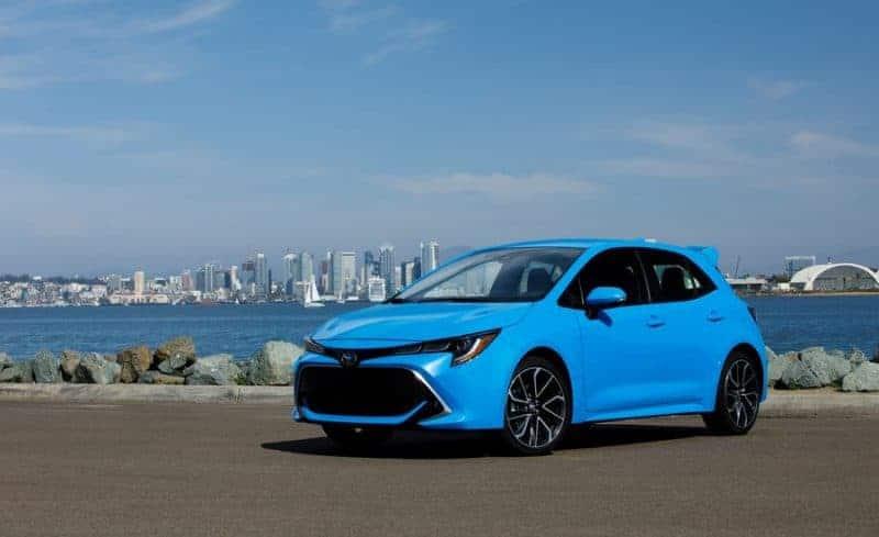Twelfth-generation Toyota Corolla hatchback front 3/4 view