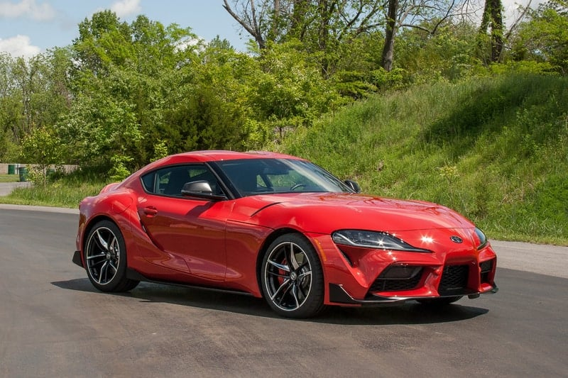 Toyota Supra front 3/4 view