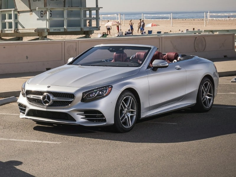 2018 Mercedes-Benz convertible - left front view