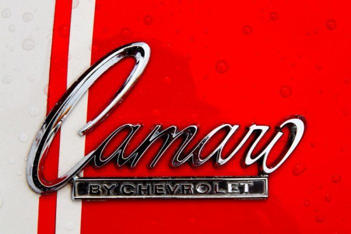 Chevrolet Camaro Logo close up
