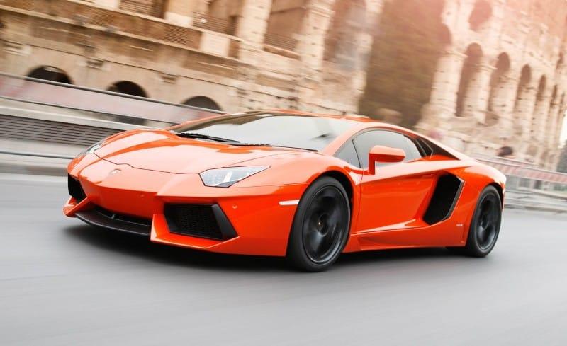 Lamborghini Aventador LP700-4 - left front view