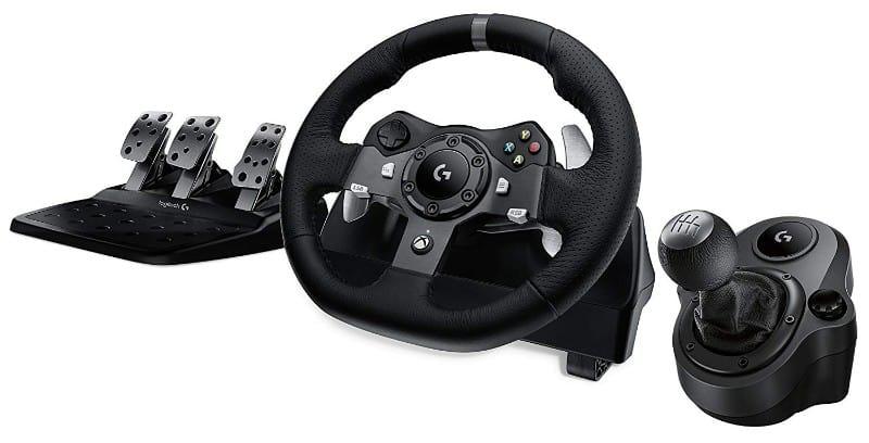 Logitech G920 Driving Force Racing Wheel and Shifter Bundle