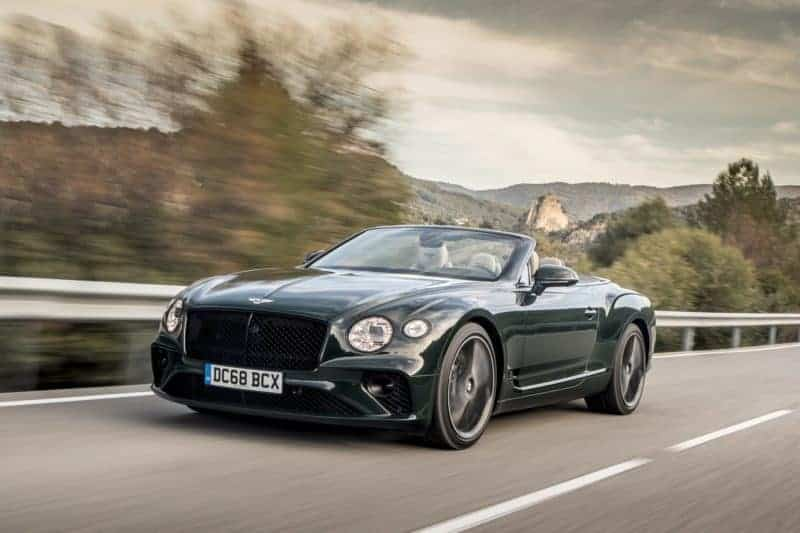 Bentley Continental GT convertible front 3/4 view