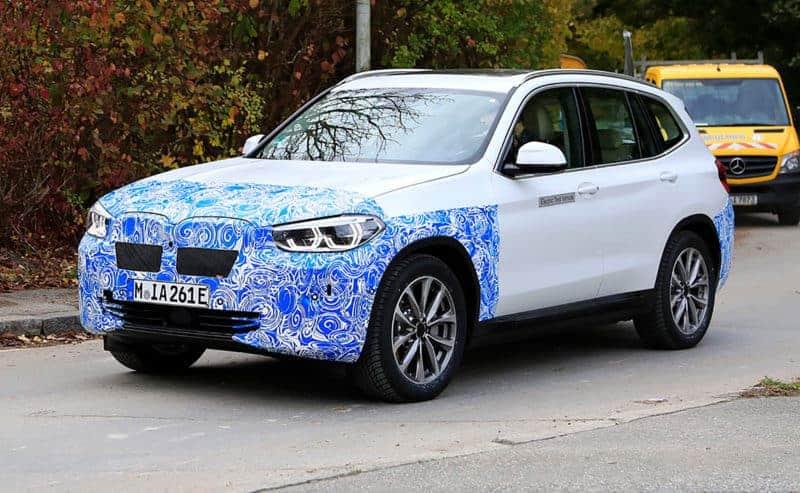 2020 BMW iX3 test mule