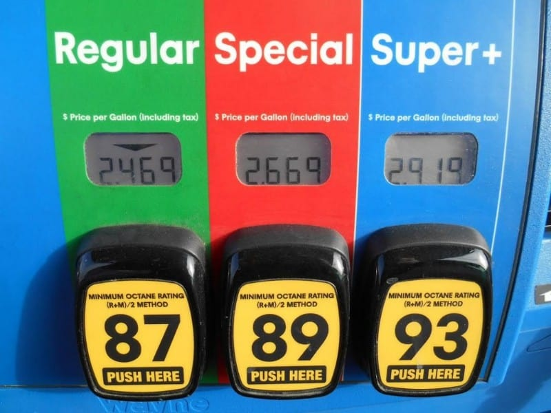 choose your fuel octane